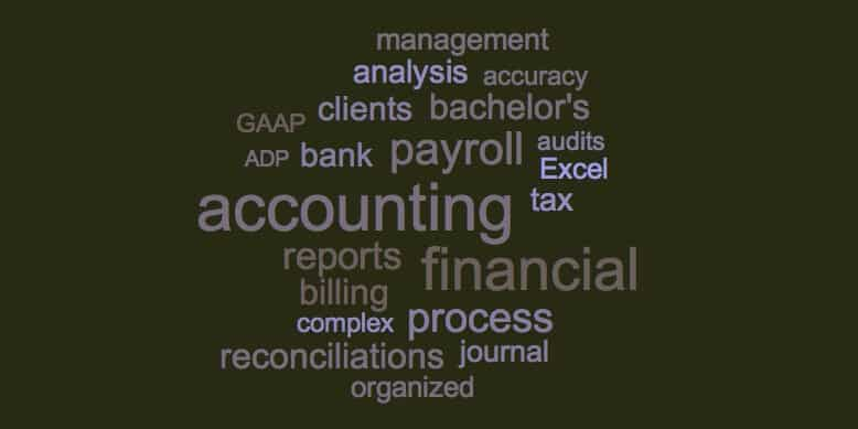 accounting resume skills and keywords