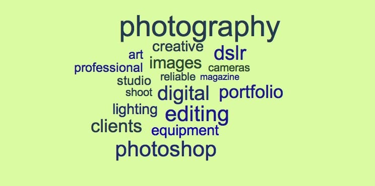 Photography resume keyword examples