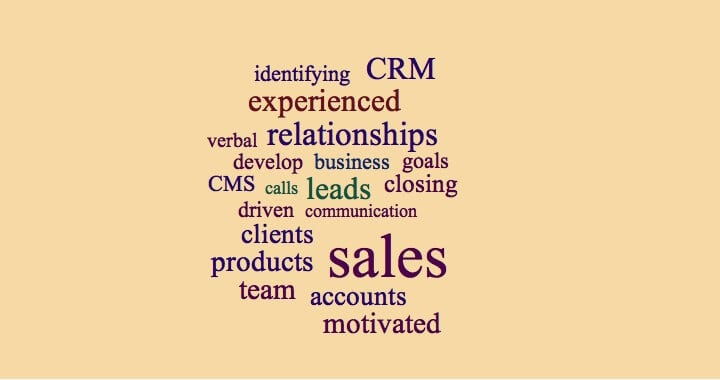 resume keywords for sales professionals