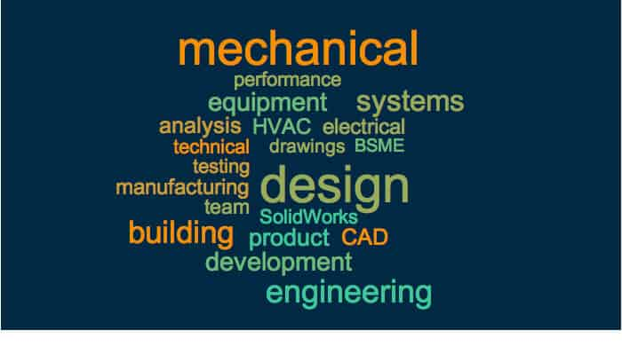 mechanical engineering keywords