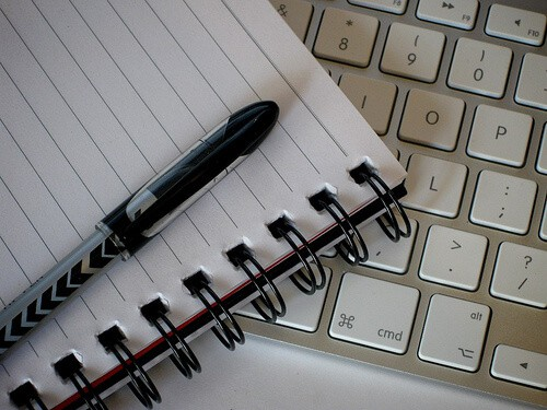 paper and pen for writing cover letter opening statement