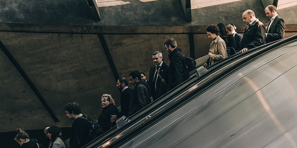 resume industry guides - people on escalator