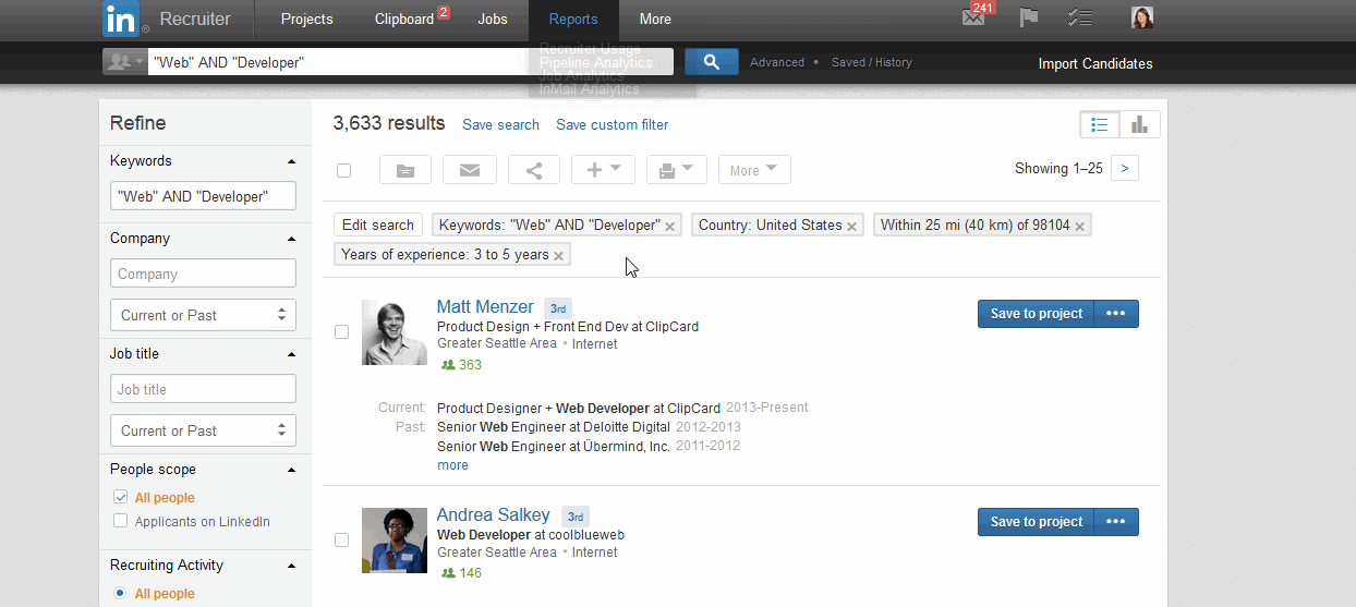 LinkedIn for Corporate Recruiters