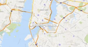 Map view during your Craigslist Job Search.