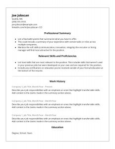 Hybrid Resume Template. A better option than the Functional Resume Template.