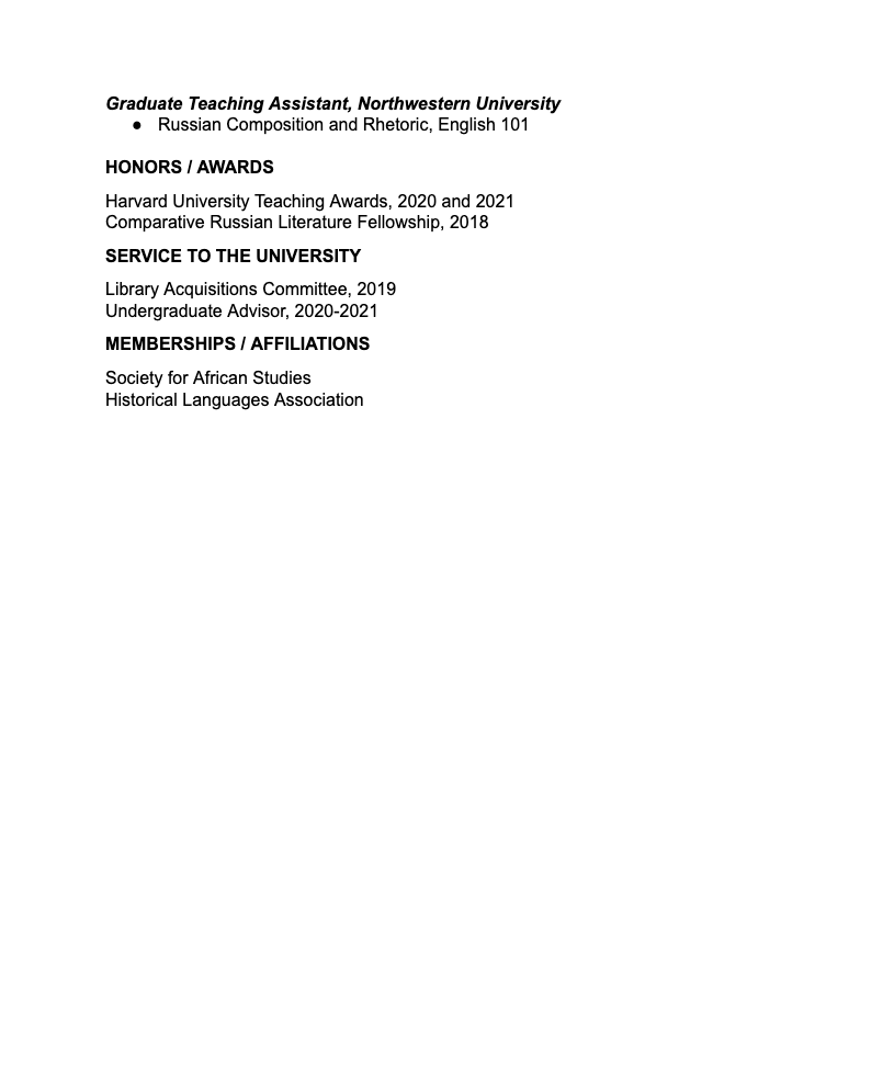 CV Example 2   Large