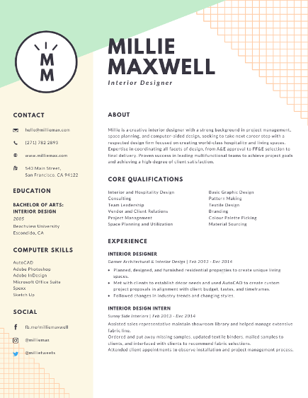 unique resume templates