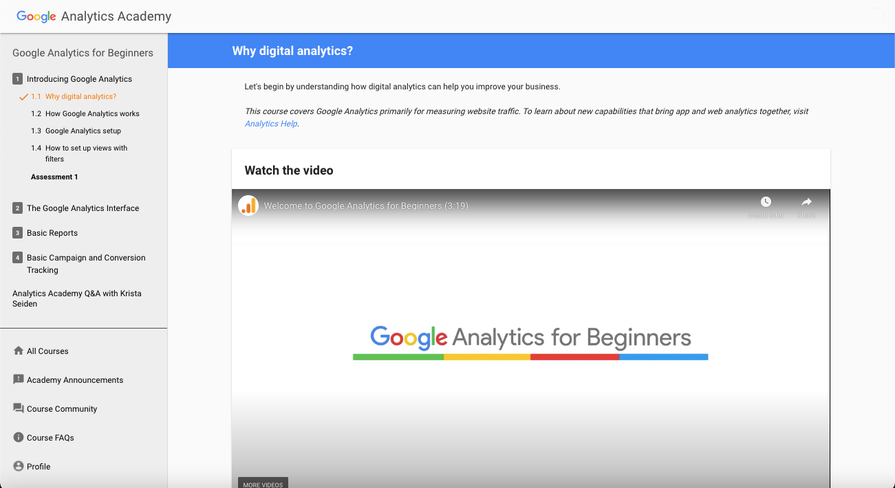 Google Analytics | Free Certification Courses