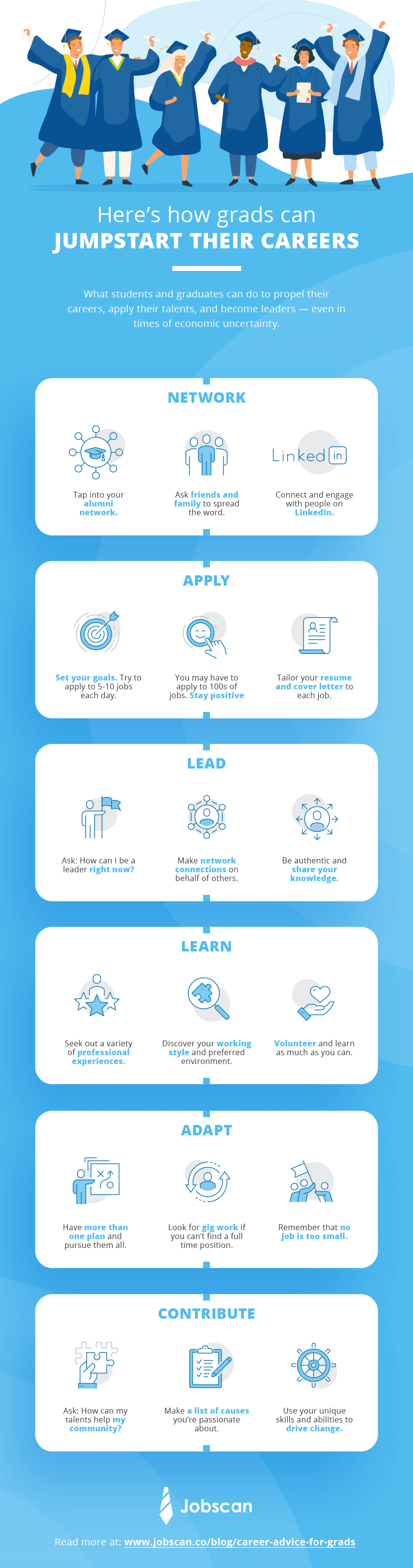 advice for grads infographic