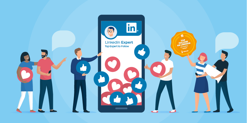 Top job search experts to follow on linkedin illustration