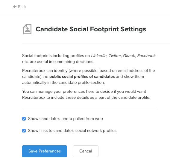 Recruiterbox ATS social footprint