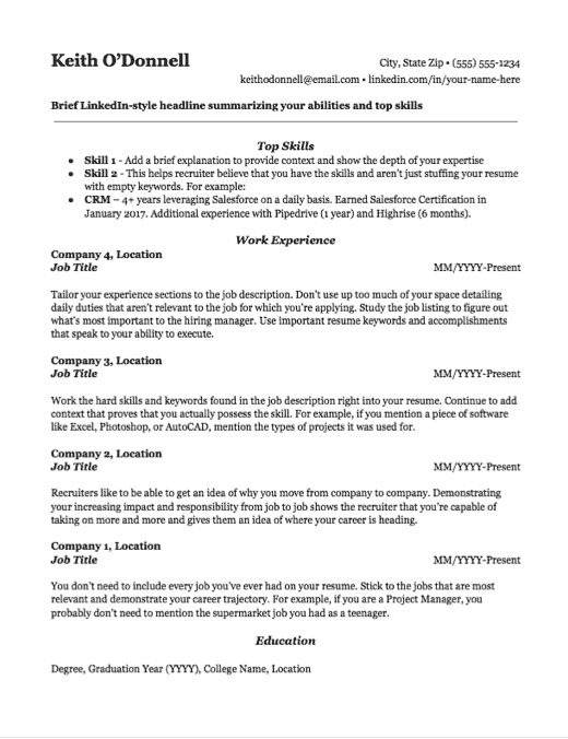 Resume Formats Which Type Of Resume Is Right For You