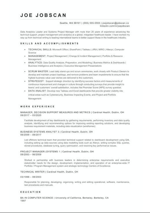 Data Engineer Resume