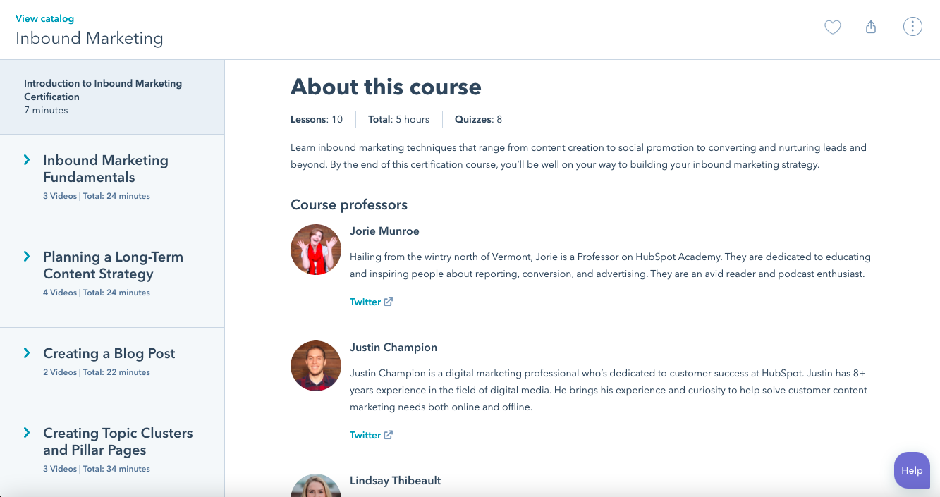 HubSpot | Free Certification Courses