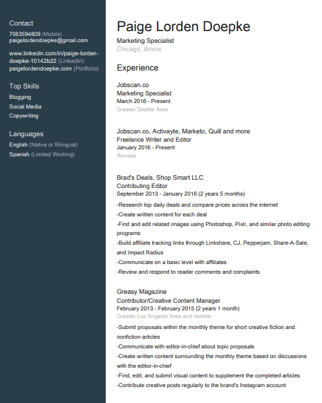 linkedin resume download
