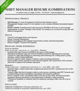resume example that could be useful in a career change