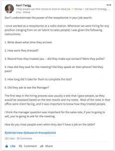 Who to follow on LinkedIn? Kerri Twigg.
