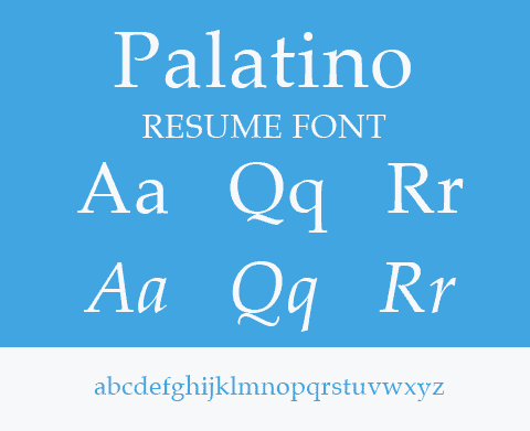palatino type for resume