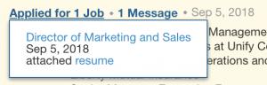 what a resume looks like in LinkedIn