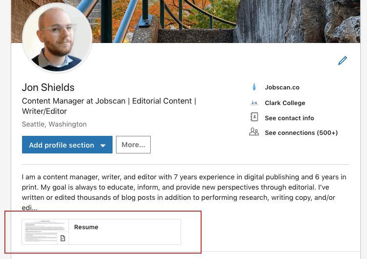 resume-upload-to-linkedin
