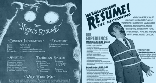 Scary resumes