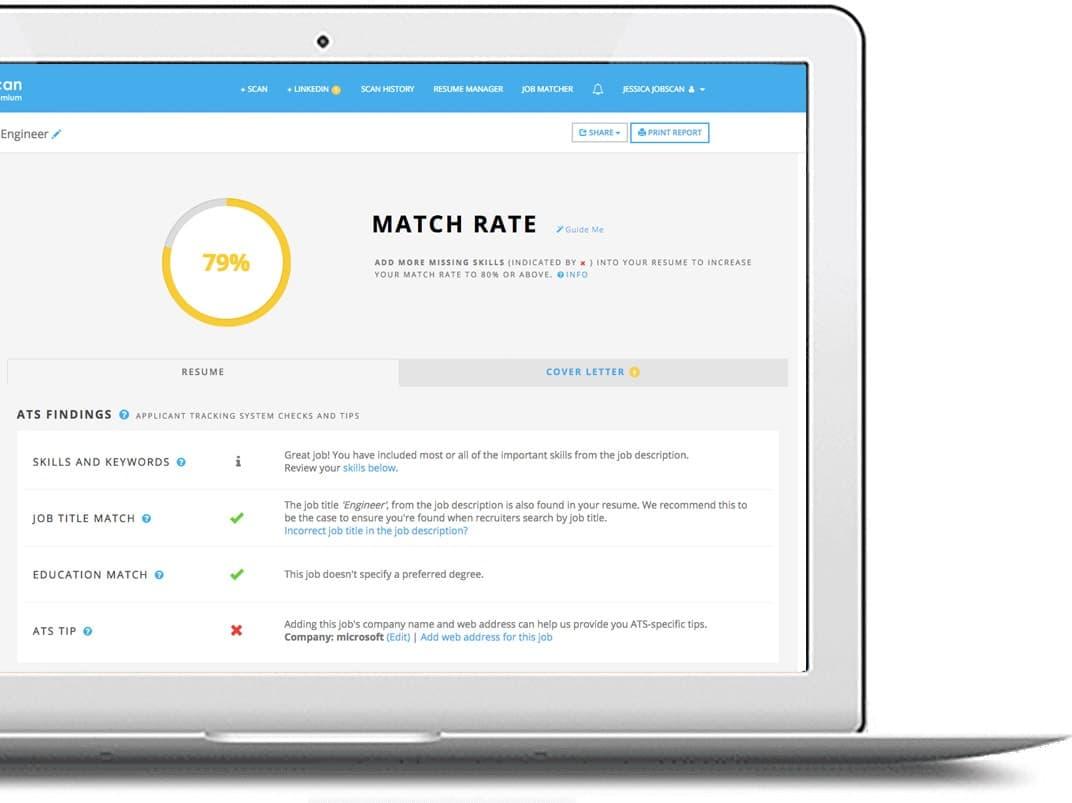 Match Rate Laptop