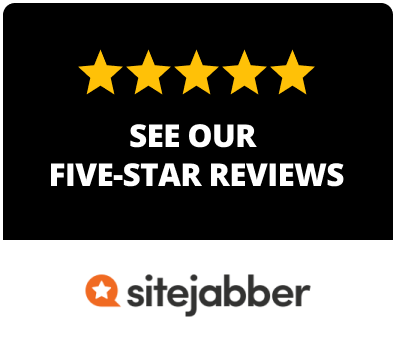 Image of five star Sitejabber reviews