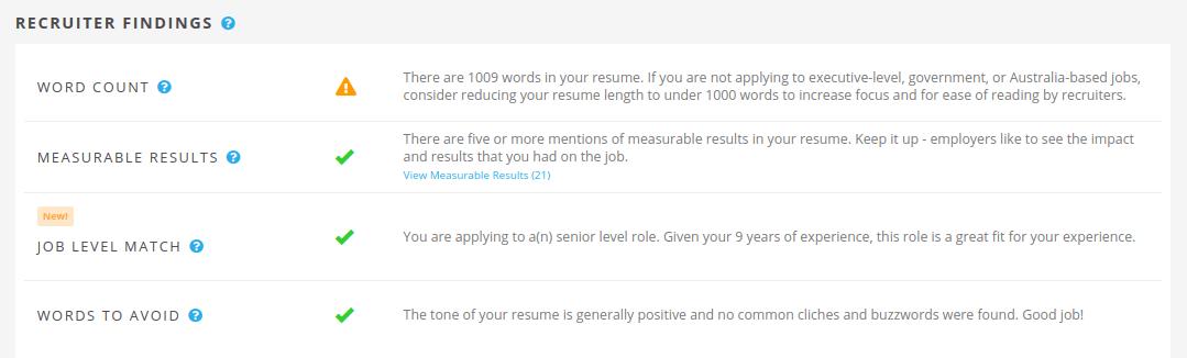 Jobscan Tutorial Recruiter Findings