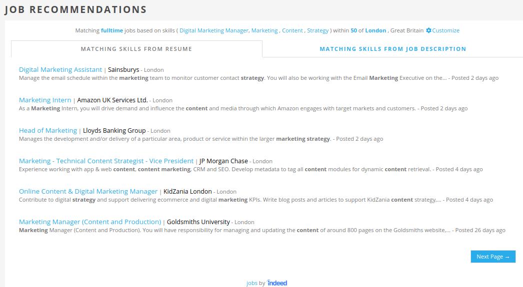 Jobscan Tutorial Job Recommendations