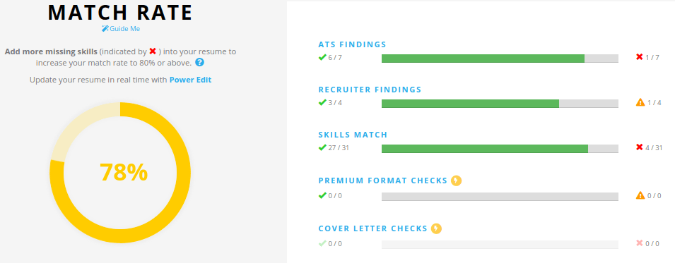 Jobscan Tutorial Match Rate