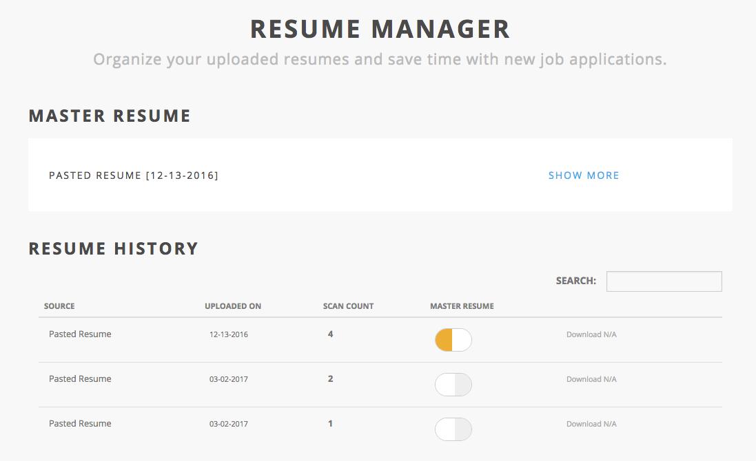 master-resume-in-use