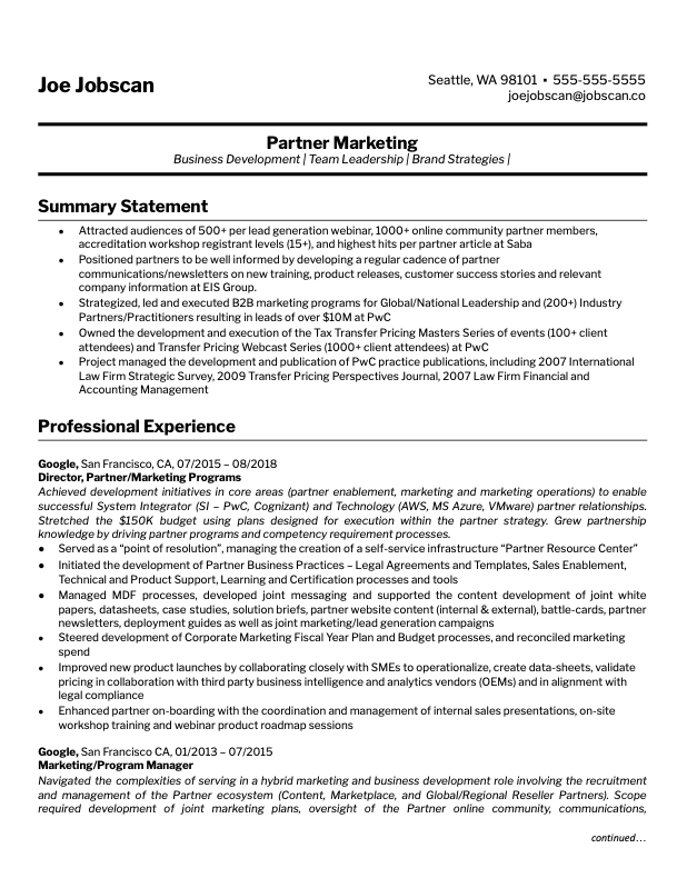 Marketing - Business Development
