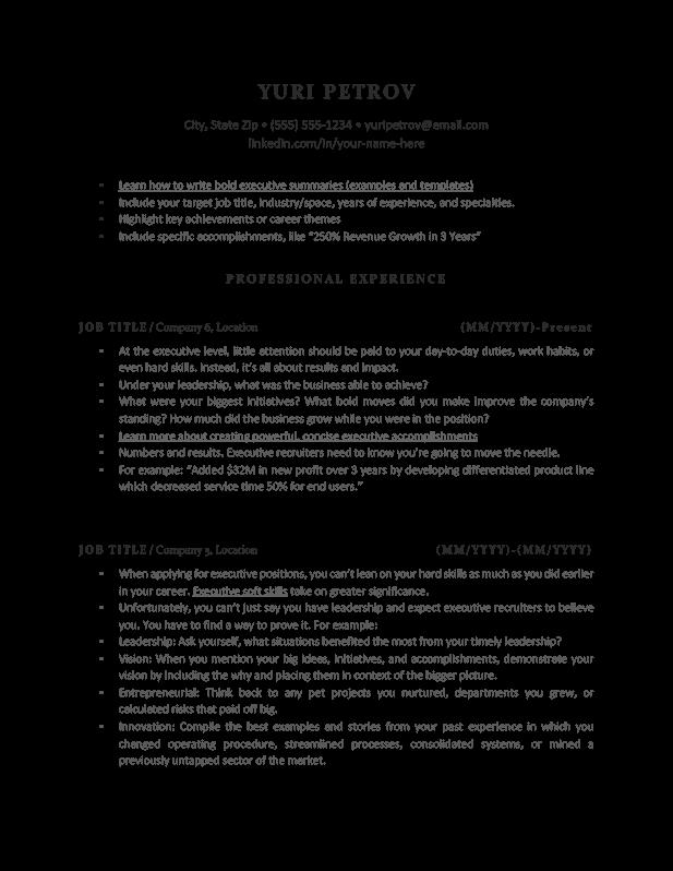 executive resume 4