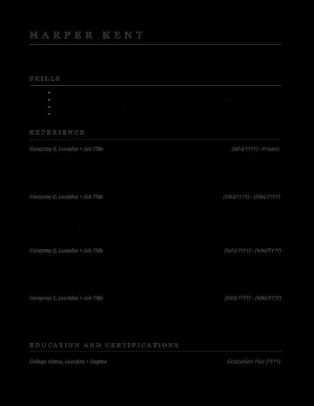 management resume 1